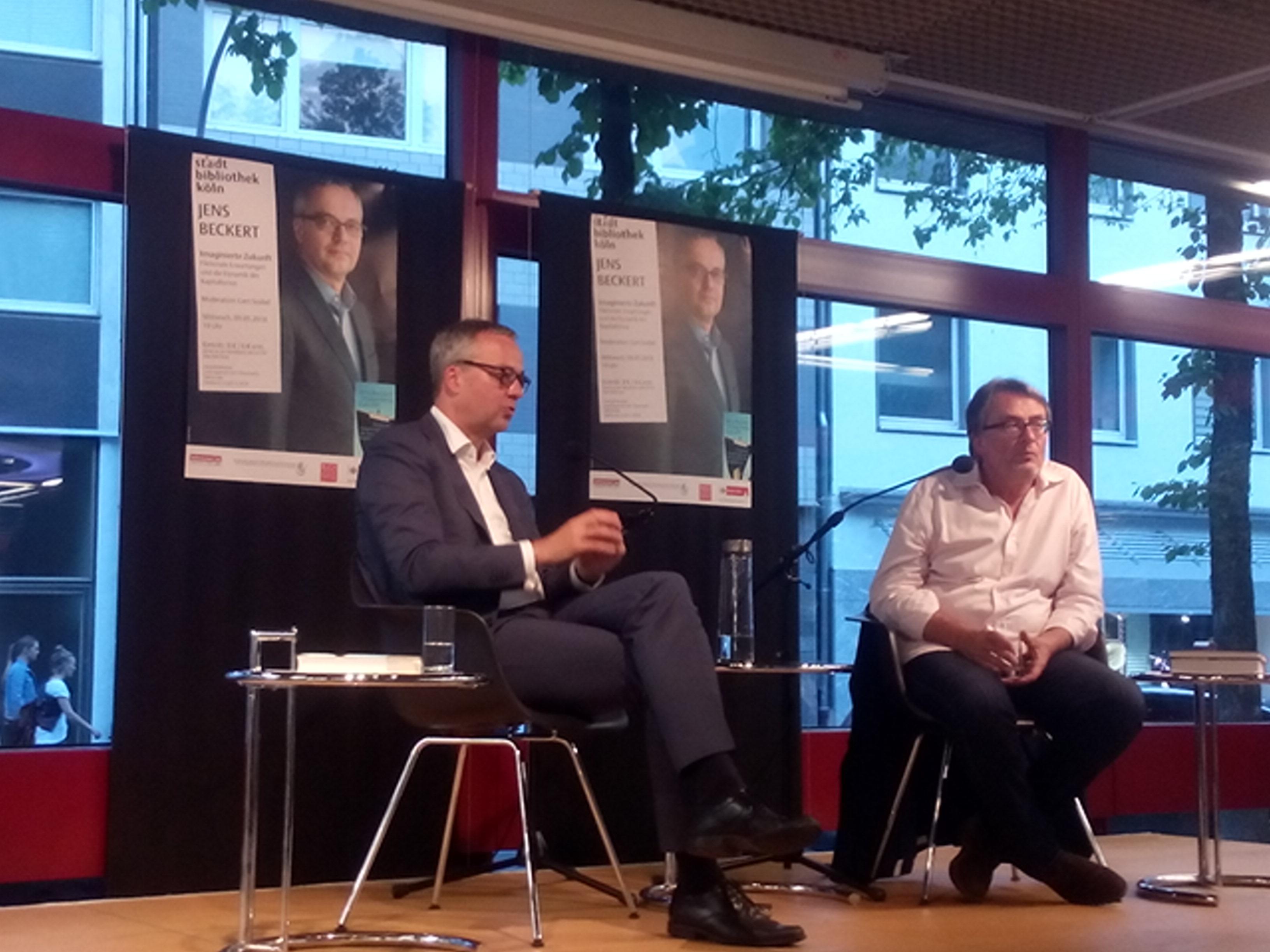 Jens Beckert und Gert Scobel im Gespräch mit dem Publikum